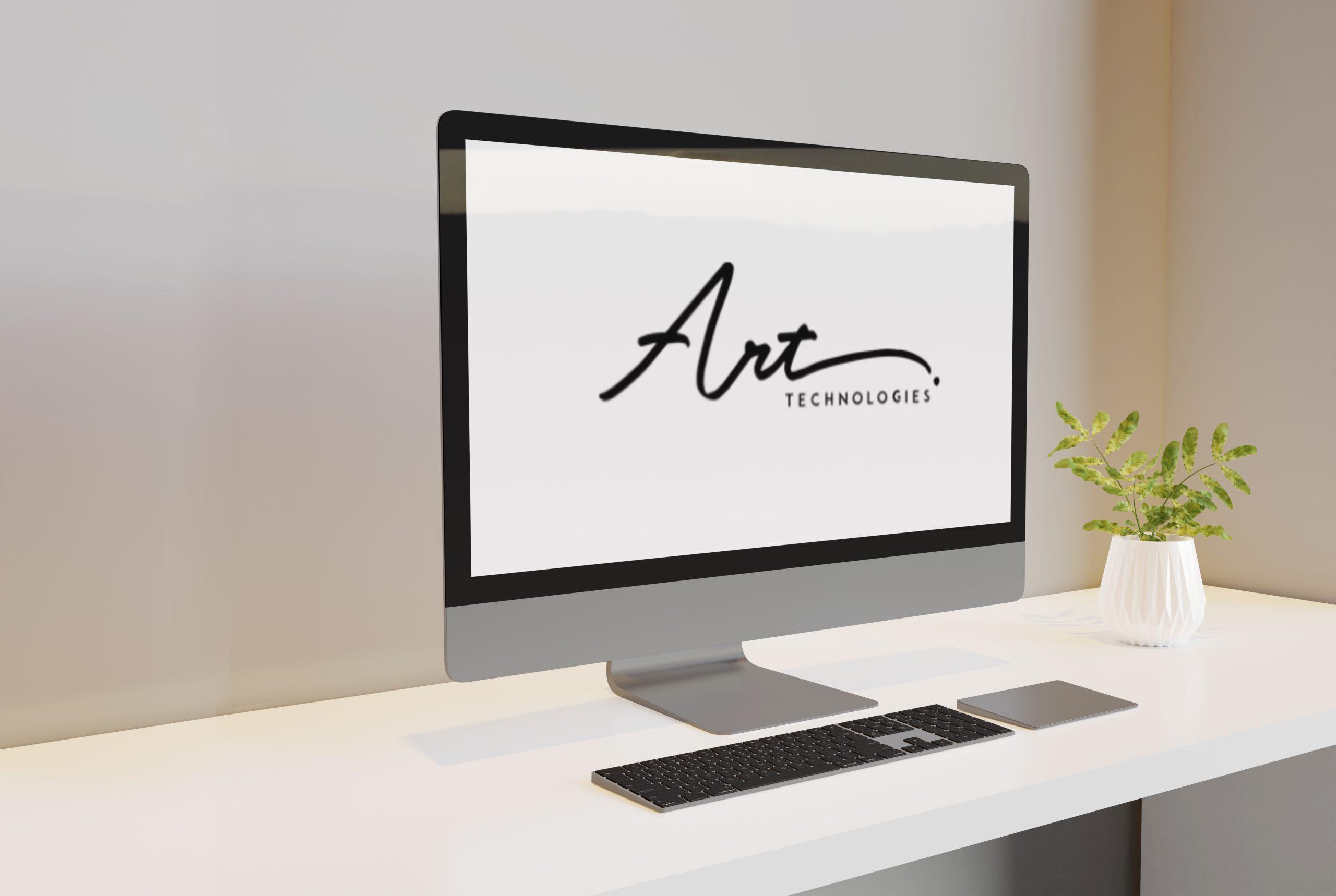 Desktop mockup left view